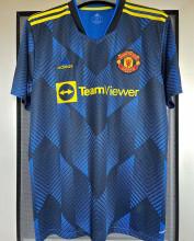 2021/22 M Utd 1:1 Quality Third Dark Blue Fans Soccer Jersey