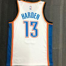 OKC THUNDER HARDEN #13 White NBA Jerseys Hot Pressed
