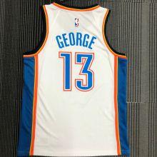 OKC THUNDER GEORGE #13 White NBA Jerseys Hot Pressed