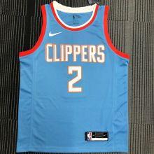 Clippers LEONARD #2 NBA Jerseys Hot Pressed