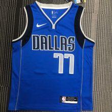 Mavericks Dončić # 77 Blue NBA Jerseys Hot Pressed