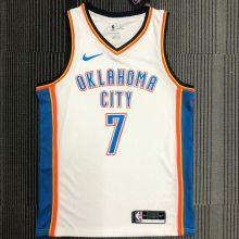 OKC THUNDER ANTHONY #7 White NBA Jerseys Hot Pressed
