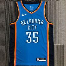 OKC THUNDER DURANT #35 Blue NBA Jerseys Hot Pressed