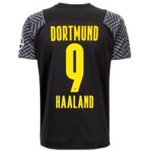 HAALAND #9 BVB Away Black Fans Soccer Jersey 2021/22