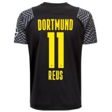 REUS #11 BVB Away Black Fans Soccer Jersey 2021/22