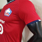 2021/22 Lille Home Red  Player Soccer Jerseys
