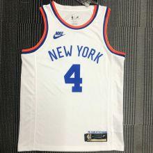 NY Knicks ROSE # 4 White 75 Years NBA Jerseys Hot Pressed
