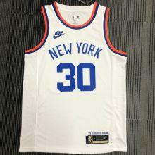 NY Knicks RANDLE # 3 White 75 Years NBA Jerseys Hot Pressed