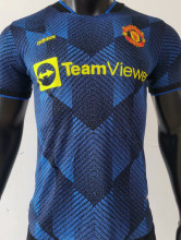 2021/22 M Utd Third Blue Player Version Soccer Jersey