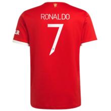 RONALDO #7 M Utd 1:1 Home Fans Jersey 2021/22(UCL Font 欧冠字体)