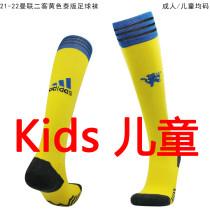 2021/22 Man Utd Third Yellow Kids Sock
