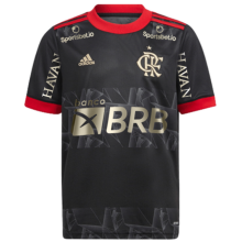2021/22 Flamengo Third Black Fans Soccer Jersey (All AD 全+背下新广告)