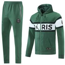 2021/22 PSG Green Hoodie Jacket Tracksuit
