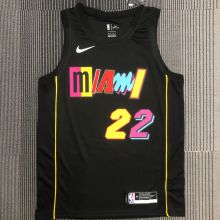 2022 Miami Heat BUTLER #22 City Edition Black NBA Jerseys Hot Pressed