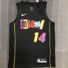 2022 Miami Heat HERRO #14 City Edition Black NBA Jerseys Hot Pressed