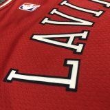 2022 Bulls LAVINE #8 Red NBA Jerseys Hot Pressed