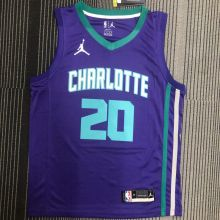 2022 Hornets Jordan HAYWARO #20 Purple NBA Jerseys Hot Pressed