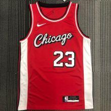 2022 Bulls Jordan #23 Red NBA Jerseys Hot Pressed