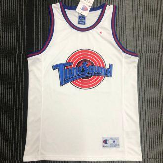 JORDAN # 23 Tune Squad Concept White NBA Jerseys Hot Pressed