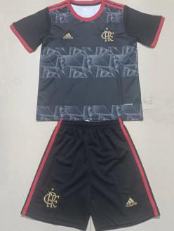 2021/22 Flamengo Third Black Kids Soccer Jersey