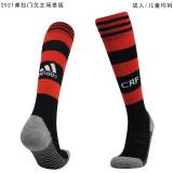 2021/22 Flamengo Home Red Black Sock