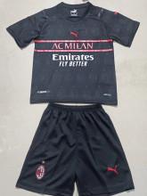 2021/22 AC Milan Third Black Kids Soccer Jersey
