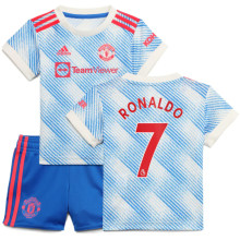 RONALDO #7 M Utd Away Kids Jersey 2021/22(League Font)