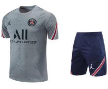 2021/22 PSG Grey Short Training Jersey(A Set)拉链口袋