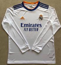 2021/22 RM Home White Long Sleeve Soccer Jersey