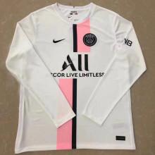 2021/22 PSG Away White Long Sleeve Soccer Jersey