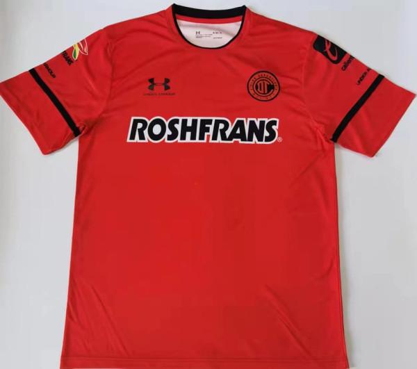 2021/22 Toluca FC Home Red Fans Soccer Jersey