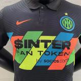 2021/22 In Milan Third Black Player Version Soccer Jersey