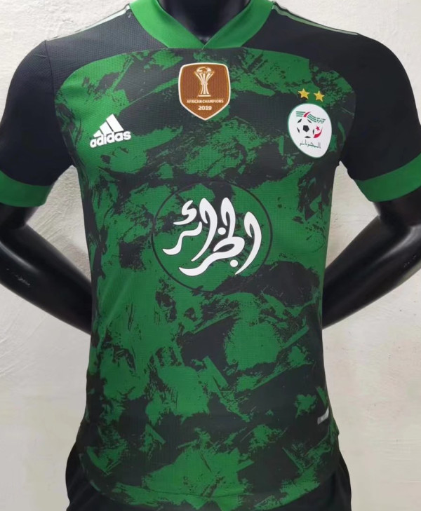 2021/22 Algeria Special Edition Green Player Version Soccer Jersey