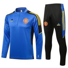 2021/22 M Utd Blue Sweater Tracksuit