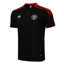 2021/22 Man Utd Black Polo Short Jersey有钮