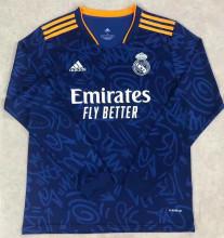 2021/22 RM Away Blue Long Sleeve Soccer Jersey