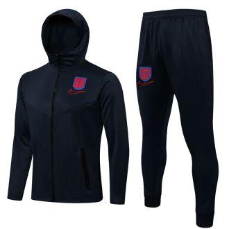 2021/22 England Black Hoody Zipper Jacket Tracksuit