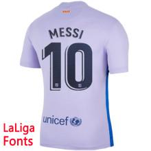 MESSI #10 BA 1:1 Away Fans Soccer Jersey 2021/22 (LaLiga Fonts西甲字体)