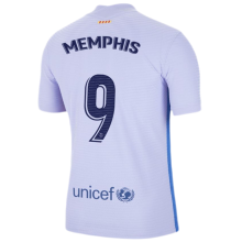 MEMPHIS #9 BA 1:1 Away Fans Soccer Jersey 2021/22 (LaLiga Fonts西甲字体)