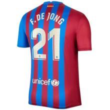 F.DE JONG #21 BA 1:1 Home Fans Jersey 2021/22 (LaLiga Fonts西甲字体)