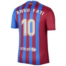 ANSU FATI #10 BA 1:1 Home Fans Jersey 2021/22 (LaLiga Fonts西甲字体)