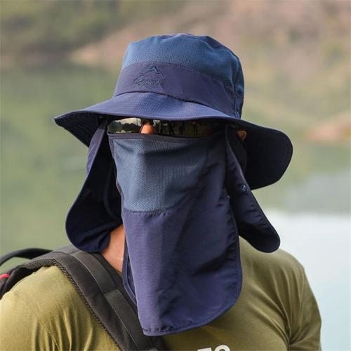 Cool Outdoor Sun Block Hats Water Proof Fishing Hats