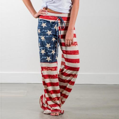 Comfortable USA Flag Casual Loose Pants