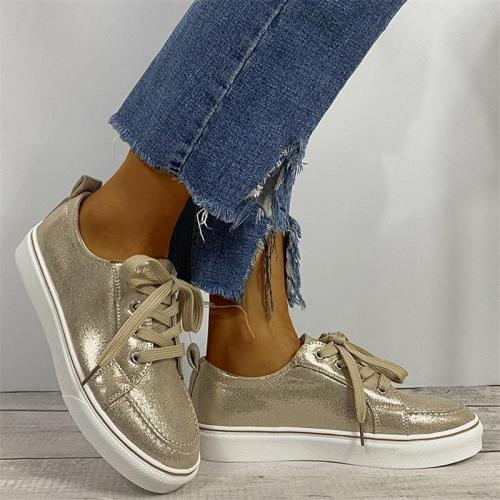 Durable Daily Lace-up Casual Shoes For Women