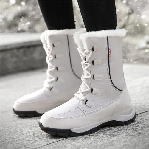 Cozy Warm Water Proof Thicken Fur Interior Lace Up Snow Boots