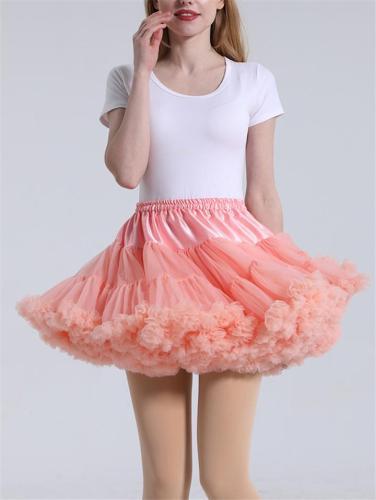 Pretty Ballet Elastic Waistband Tulle Mini Flared Tutu Skirt
