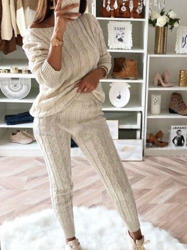 Stylish Two-Piece Fashion Warm Sweater Sets