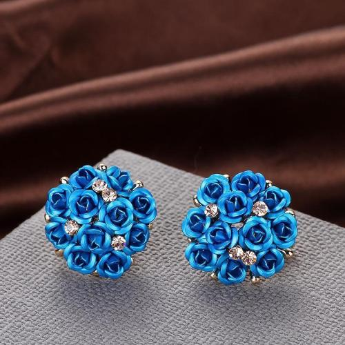 Super Cute Rose Flower Balls Earring Studs For Women (Buy 3pcs Get 4th Free, Code: FREE04)