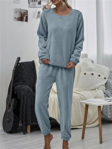 Relaxing Comfy Warm Flocking Homewear Outfits For Winter Spring