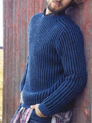 Men's Solid Color Casual LongSleeve Sweater